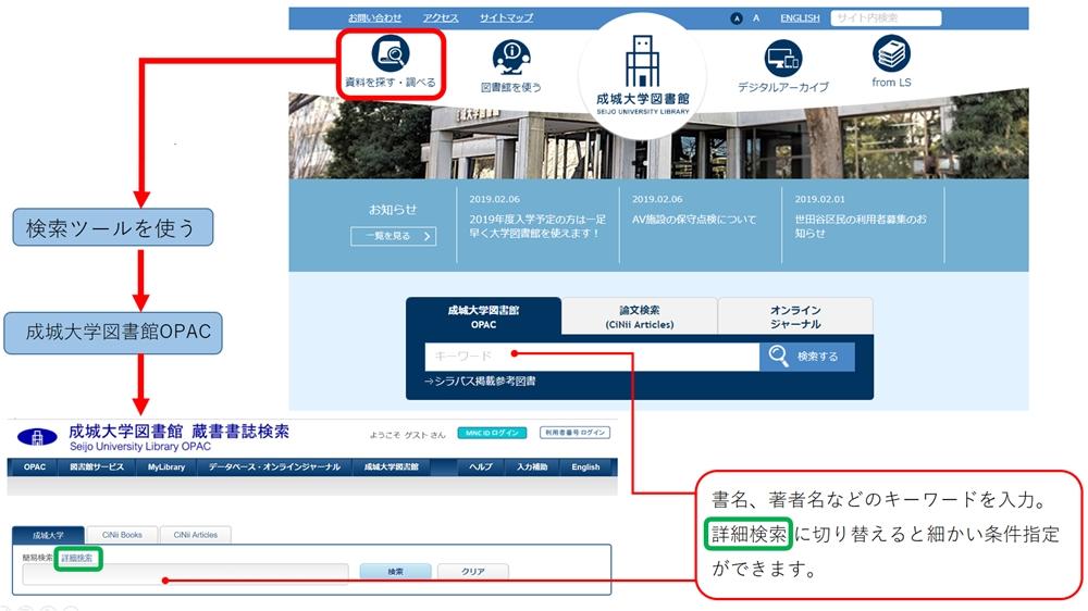成城大学図書館HP